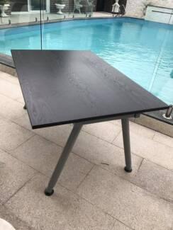 Modern style Desk/Coffee table - Hard and dark wood