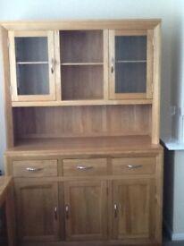 Oak Furnitureland Solid Oak Large Welsh Dresser