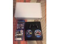 PS4 500GB, 4x Games, 1x Controller, All Leads