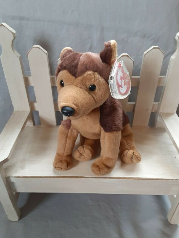 TY Beanie Babies COURAGE German Shepherd MQMT NYPD September 11, 2001 In Memory