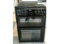 d039 black beko 60cm gas cooker comes with warranty can be delivered or collected