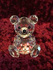 SWAROVSKI CRYSTAL SITTING TEDDY BEAR # 7664 044 000 Retired