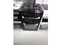 LEISURE Cuisinemaster 60 cm Gas Cooker - Black Ex display (12 Months Warranty)