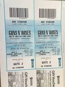 2 Gold Standing GA Guns N Roses tickets - Friday 10th Feb, Sydney Sydney City Inner Sydney Preview