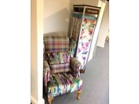 Revamped High Back Wing chair for sale