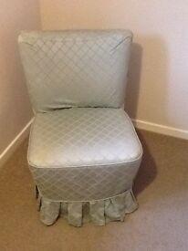 Bedroom chair in duck egg green