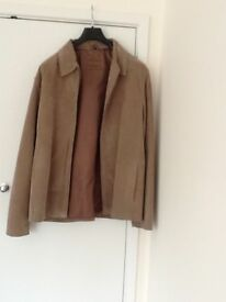 Men's Thomas Nash, Light Brown Suede jacket, size Large, as new