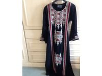 cdafd34d5a8f4 Brand new black long straight dress ( abaya) with lovely embrodry, string  to fit