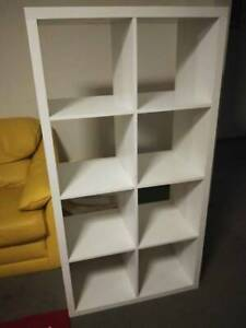 White Storage Cube Shelving Unit Furniture 8 Spaces Home Decor