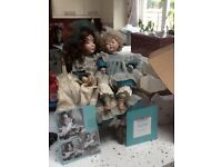 Ashton Drake bisque porcelain dolls, Cross Stitch Collection