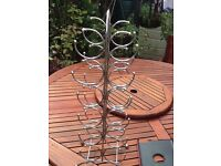 """Stainless steel wine rack 6"""" wide 27"""" high nice and clean vgc"""