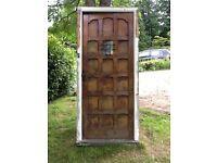 Hardwood front door and frame
