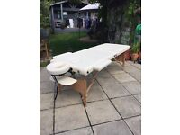 Perfect condition white massage/beauty couch/table