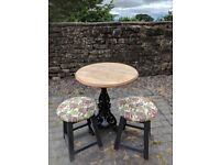 cast iron bohemian style bistro table and stools