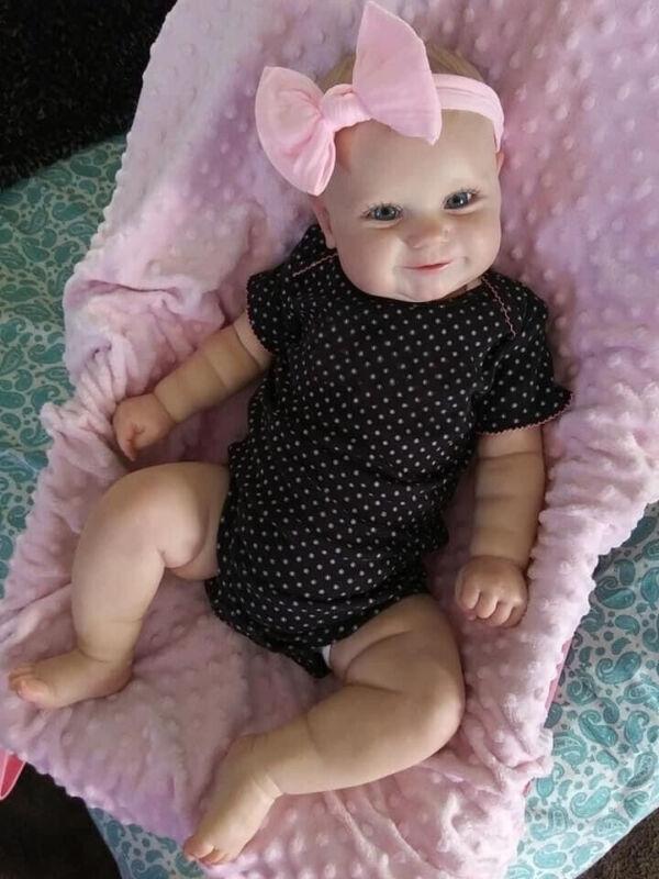 """🎁Reborn Baby Girl Newborn Dolls Soft Silicone 20"""" Reborn Toddler Maddie Dolls"""