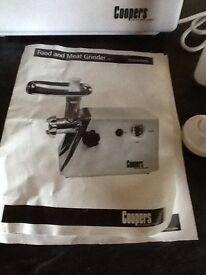 Home electric food and meat grinder and pie maker