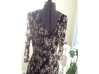 Black and cream dress size 12/14