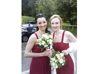 Wedding dress and various bridesmaid dresses for sale
