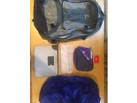Deuter 55L Bag with Accessories.