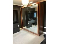 outstanding new year sale on new chicago wardrobe beautifully designed mirrored glass combo