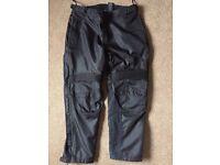 Harley Davidson Textile Motorbike Trousers. Size Large.