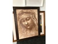 MADONNA RELIGIOUS ART FRAMED PRINT PICTURE