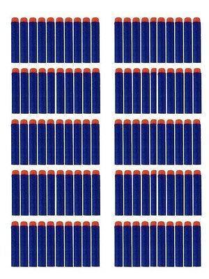 Nerf-compatible 100 Blue foam darts - Refill pack - bullets w/Orange soft tip