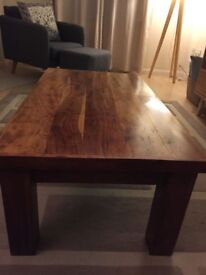Solid Indian/mango wood coffee table