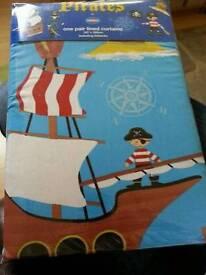 Pirate curtains and matching duvet set