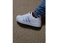 BRAND NEW ,WOMEN'S ADIDAS SUPERSTAR LIMITED EDITION TRAINERS FOR SALE.ONLY 2 PAIRS LEFT.!!