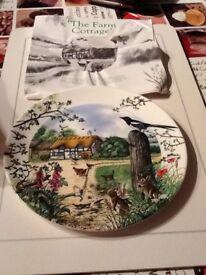 Wedgwood Farm cottage plate