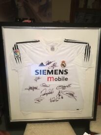 Real Madrid Signed & Framed Shirt