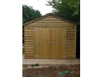 24ft x 12 ft garden sheds garages timber buildings , bespoke buildings.NO VAT