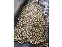 Brand new leopard animal print non slip rug / bathroom rug