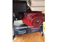Professional petrol pressure washer