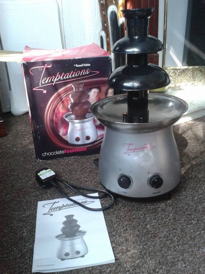 Russell Hobbs Chocolate Fountain Comes With Instructions And The Box