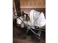 Babystyle prestige 2 pram / travel system & car seat all in a beautiful herringbone material .