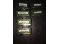 6 X 512 MB 2Rx 16 PC2-5300S-555-12-A3 Laptop RAM