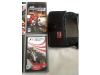 Psp street handheld game console with 10 games and accessories