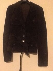 Women's Bay suede jacket, size 10, good condition