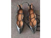 Zara Black sandals SIZE 38