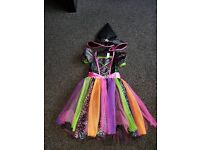 Girls witches outfit with hat. size 5-6
