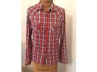 SUPERDRY WOMENS RED CHECK SHIRT SIZE S BNWOT