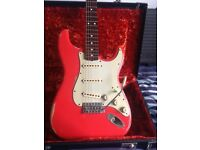 Relic Fiesta Red Fender (Partcaster) Stratocaster with Fender Hard Case