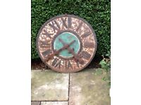 LARGE VINTAGE DECORATIVE GARDEN CLOCK