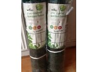 P.V.C. COATED GARDEN FENCE GREEN cost £15 a roll sell the two rolls for £10