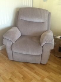 Three seater couch and chair