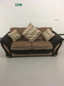 DFS fabric 2 seater sofa