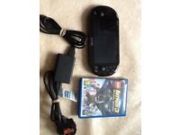 Ps vita slim touch screen with game and charger