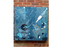 "Abstract art ""Spaceman ""An original hand painted canvas 90x90cm"